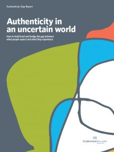 FleishmanHillard Authenticity Gap: Cover Whitepaper